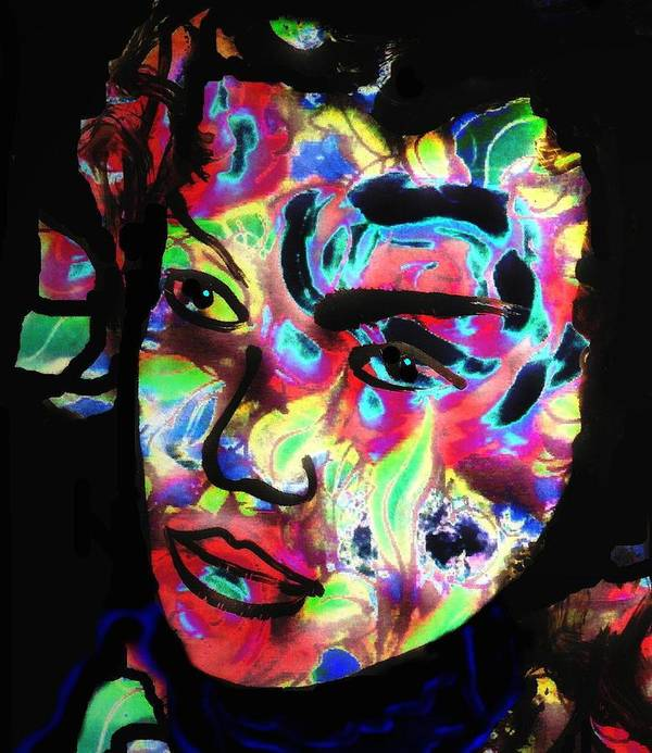 Carnival Woman Art Print featuring the mixed media Carnival by Natalie Holland