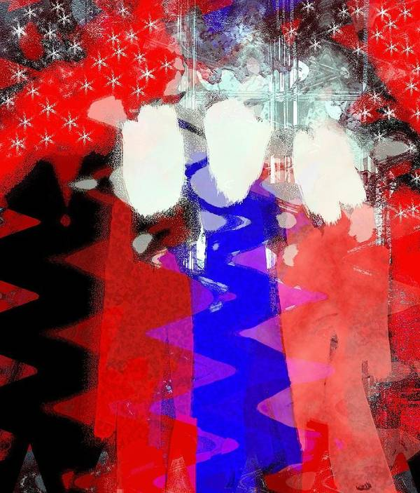 4th Of July Print featuring the painting Celebration 3 by Mimo Krouzian