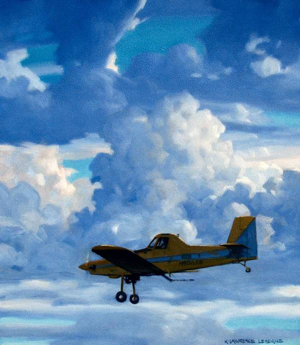 Airplanes Art Print featuring the painting Crop Duster by Kevin Lawrence Leveque