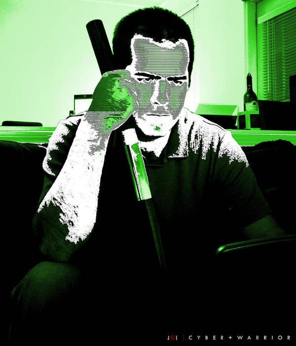 Me Art Print featuring the photograph Cyber Plus Warrior by Jonathan Ellis Keys