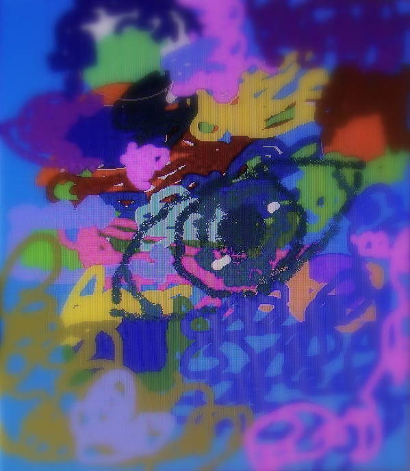 Abstract Print featuring the digital art Eye by Cybele Chaves