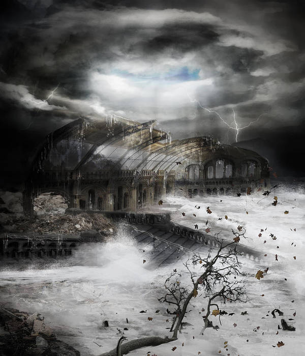 Hurricane Art Print featuring the digital art Eye Of The Storm by Mary Hood
