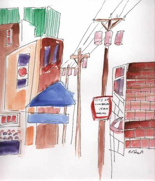 Watercolor Art Print featuring the painting Festival In The City 8 by B L Qualls