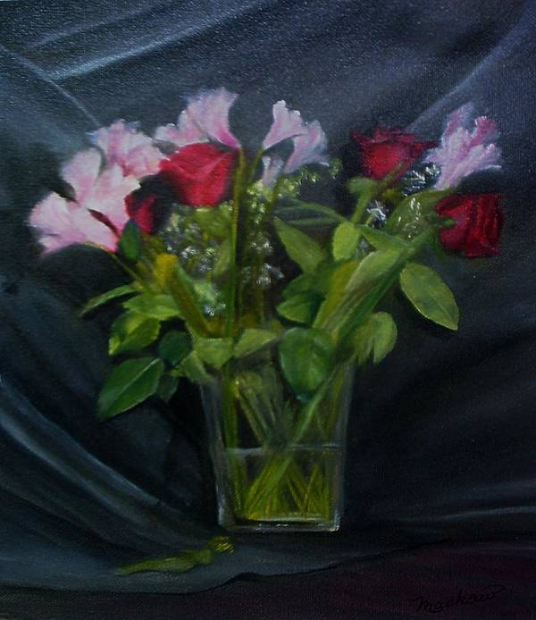 Flowers Art Print featuring the painting Flowers For Sarah by Sheila Mashaw