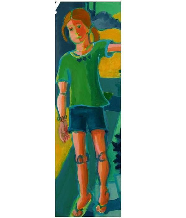 Portrait Art Print featuring the painting Gabrielle by Debra Bretton Robinson