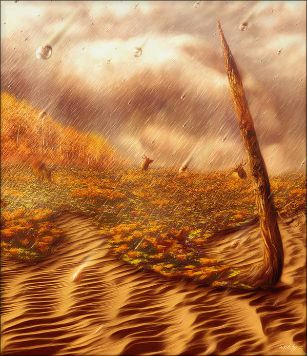 Art Print featuring the painting Gods Hand Painting With Life by Robby Donaghey