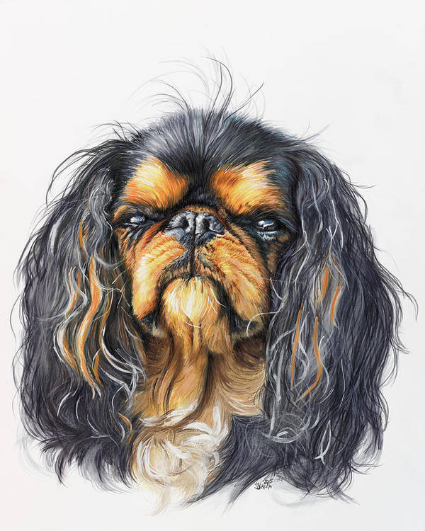 Toy Breed Art Print featuring the painting King Charles Spaniel In Watercolor by Barbara Keith