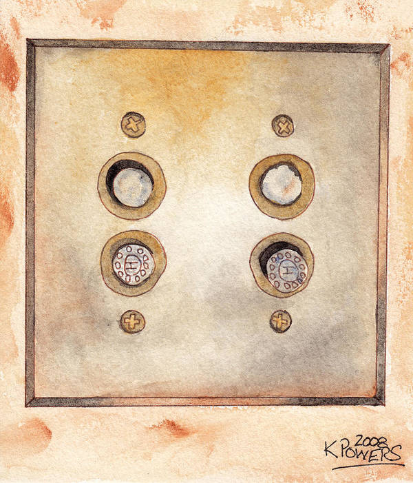 Lightswitch Art Print featuring the painting Lightswitch by Ken Powers