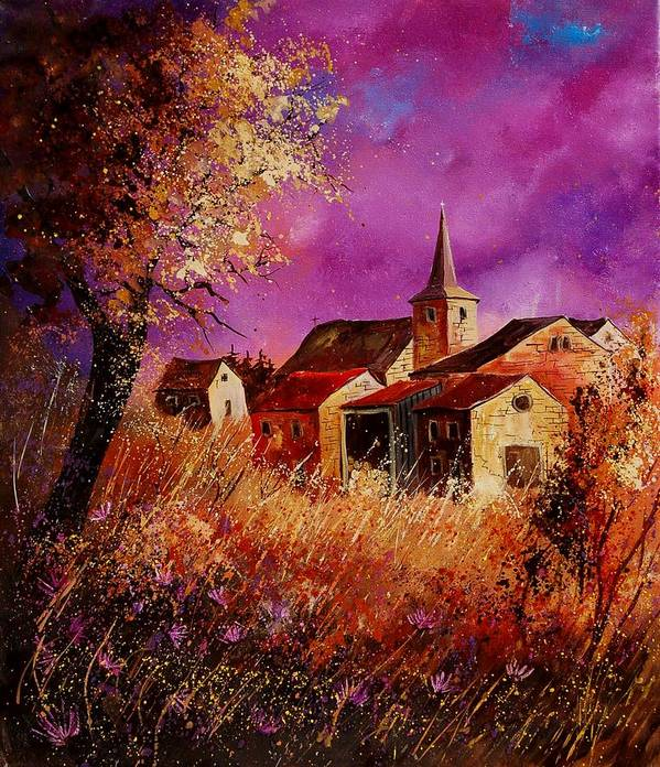 Landscape Art Print featuring the painting Magic Autumn by Pol Ledent