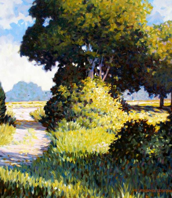 Landscape Art Print featuring the painting Memory by Kevin Lawrence Leveque