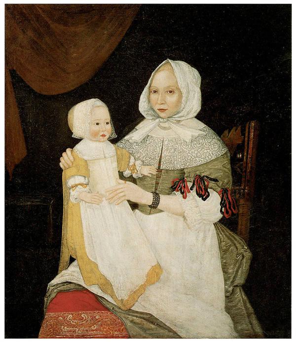 Freake Limner Art Print featuring the painting Mrs. Elizabeth Freake And Baby Mary by Freake Limner