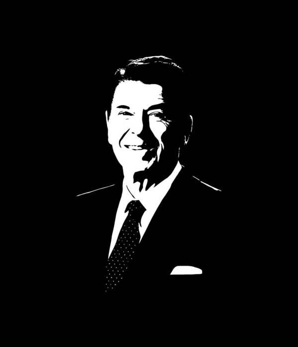 Ronald Reagan Art Print featuring the digital art President Ronald Reagan by War Is Hell Store