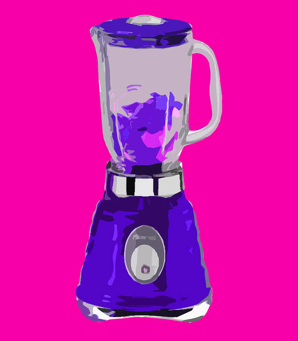 Blender Art Print featuring the digital art Purple Blender by Peter Oconor