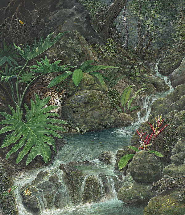Water Art Print featuring the painting Spring by Manuel Gonzalez
