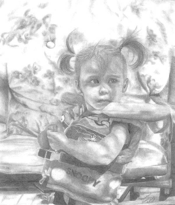 Graphite Art Print featuring the drawing Summer Fun by Rhonda Rodericks