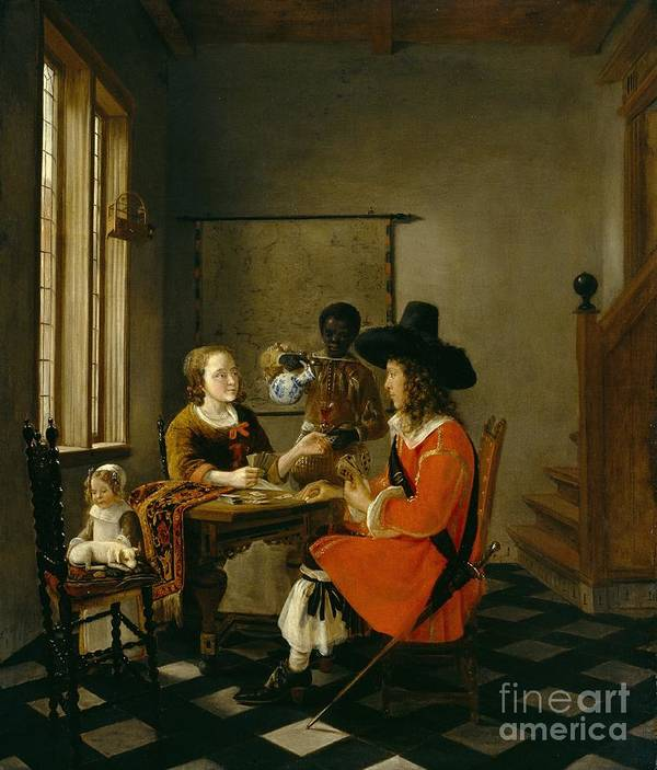 Dtr397583 Art Print featuring the photograph The Game Of Cards by Hendrik van der Burch