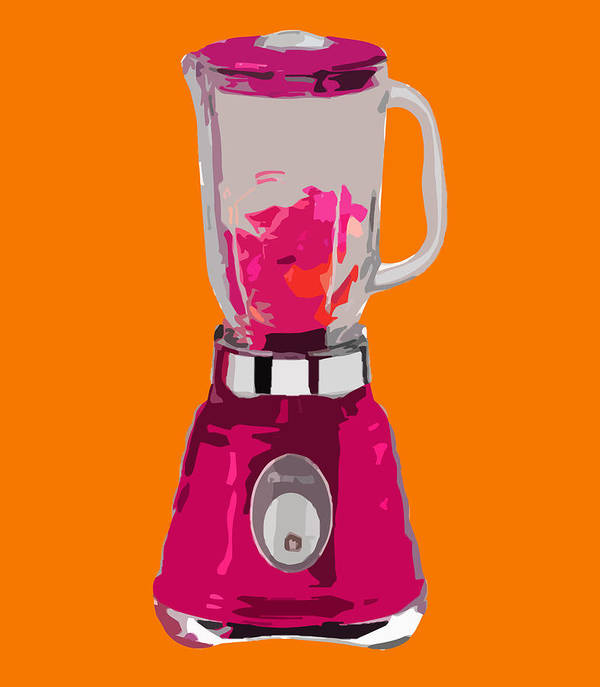 Blender Art Print featuring the painting The Pink Blender by Peter Oconor