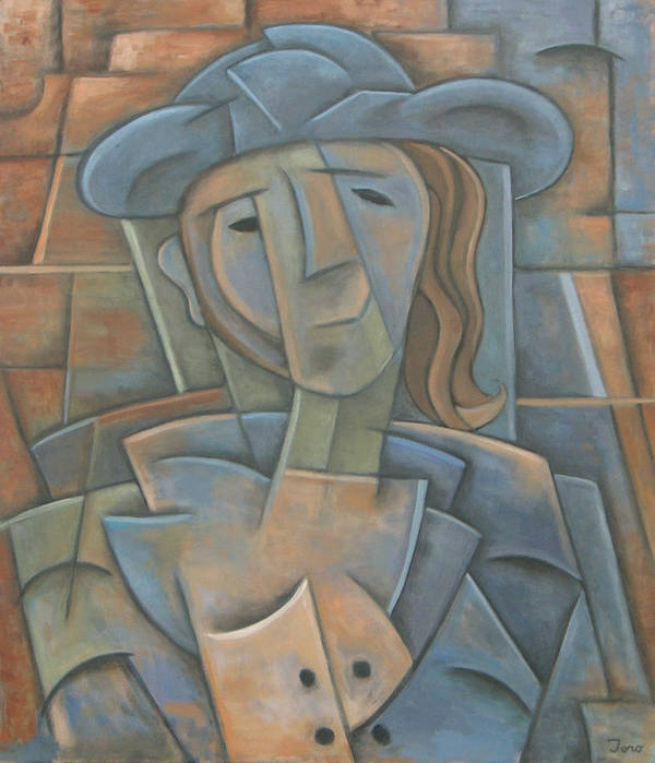 Cubism Art Print featuring the painting The Poet by Trish Toro