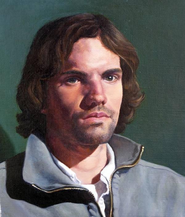 Portrait Art Print featuring the painting Toby by Deborah Allison