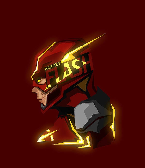 Flash Art Print featuring the digital art Flash by Geek N Rock