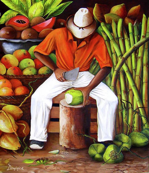 Manuel in his Caribbean Paradise by Dominica Alcantara