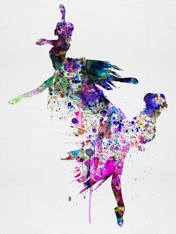 Ballet Art Print featuring the painting Ballet Watercolor 3 by Naxart Studio