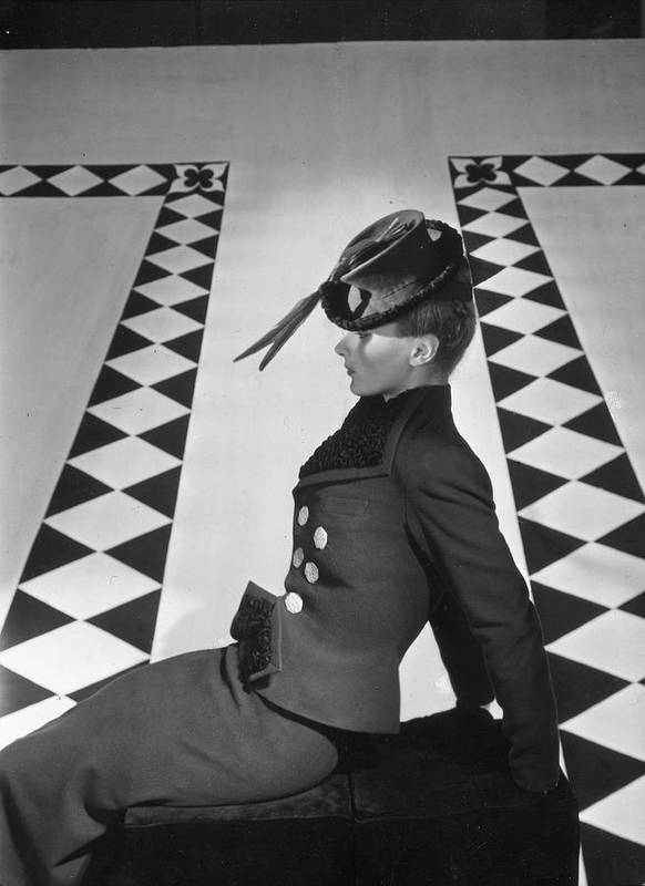 One Person Art Print featuring the photograph A Portrait Of Lisa Fonssagrives Sitting by Horst P. Horst