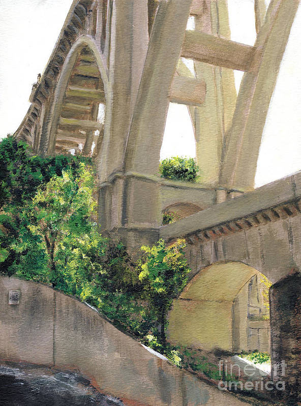 California Art Print featuring the painting Arroyo Seco Bridge by Randy Sprout