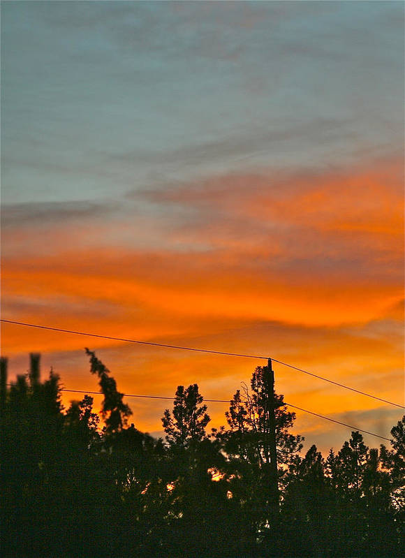 Sunset Art Print featuring the photograph Bend Sunset Two by Liz Santie