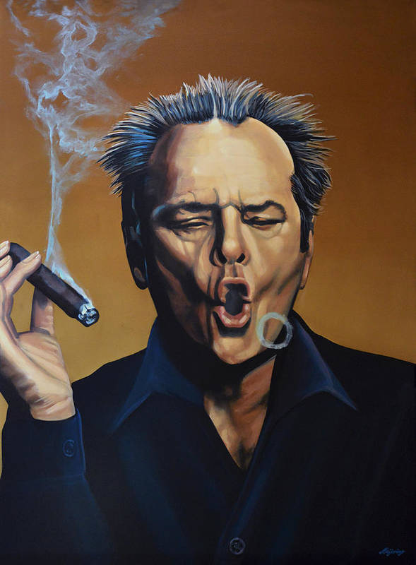 Jack Nicholson Art Print featuring the painting Jack Nicholson Painting by Paul Meijering