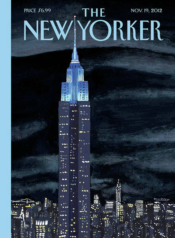 New York City Art Print featuring the painting Rhapsody In Blue by Mark Ulriksen