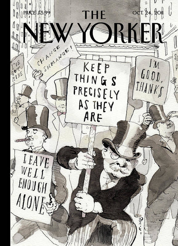 Occupy Wallstreet Art Print featuring the painting Fighting Back by Barry Blitt