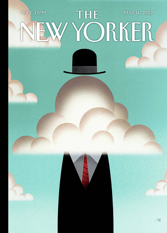 Clouds Art Print featuring the painting The Cloud by Bob Staake