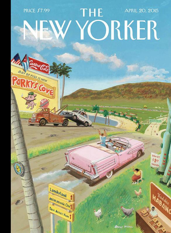Life In The Cuba Of Tomorrow Art Print featuring the painting Life In The Cuba Of Tomorrow by Barry Blitt