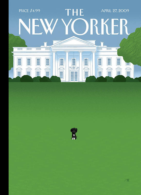 Obama Art Print featuring the painting Bo by Bob Staake