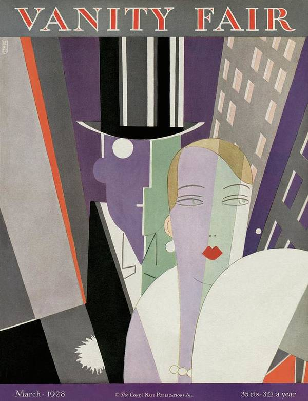 Cityscape Art Print featuring the photograph A Couple Wearing Evening Clothes by Eduardo Garcia Benito