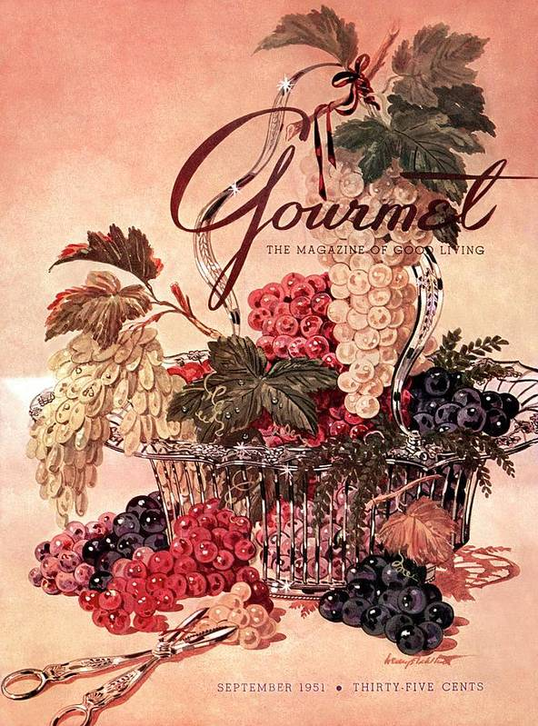 Illustration Art Print featuring the photograph A Gourmet Cover Of Grapes by Henry Stahlhut