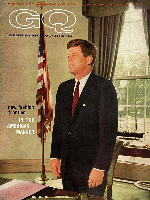 Political Art Print featuring the photograph A Gq Cover Of President John F. Kennedy by David Drew Zingg