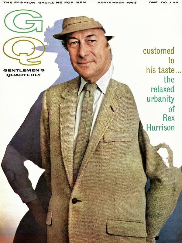 Fashion Art Print featuring the photograph A Gq Cover Of Rex Harrison by Chadwick Hall