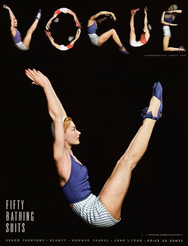 One Person Art Print featuring the photograph A Vogue Magazine Cover Of Lisa Fonssagrives by Horst P Horst