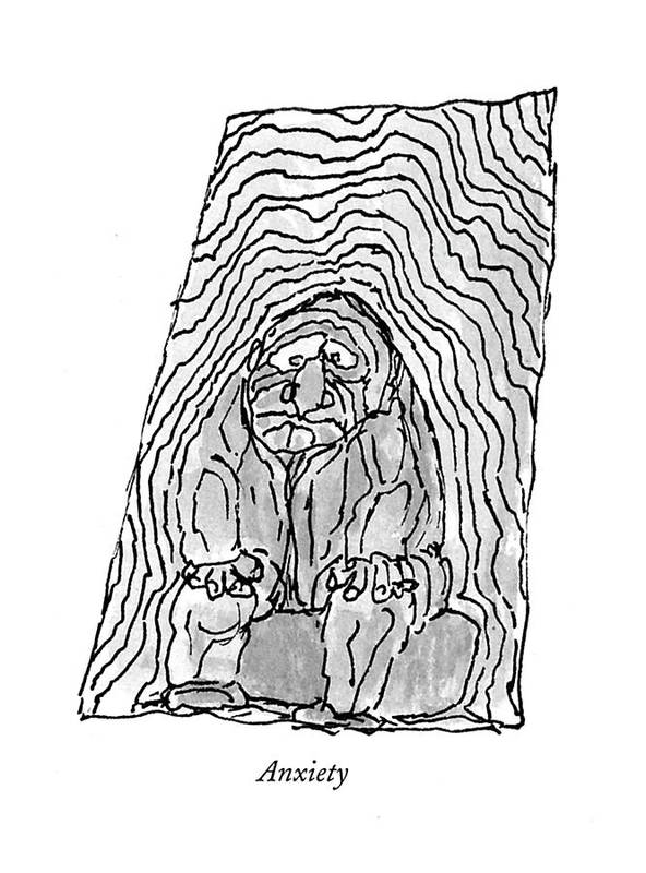 Anxiety Art Print By William Steig
