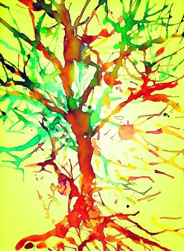 Color Art Print featuring the mixed media Artistree by Joseph Ferguson