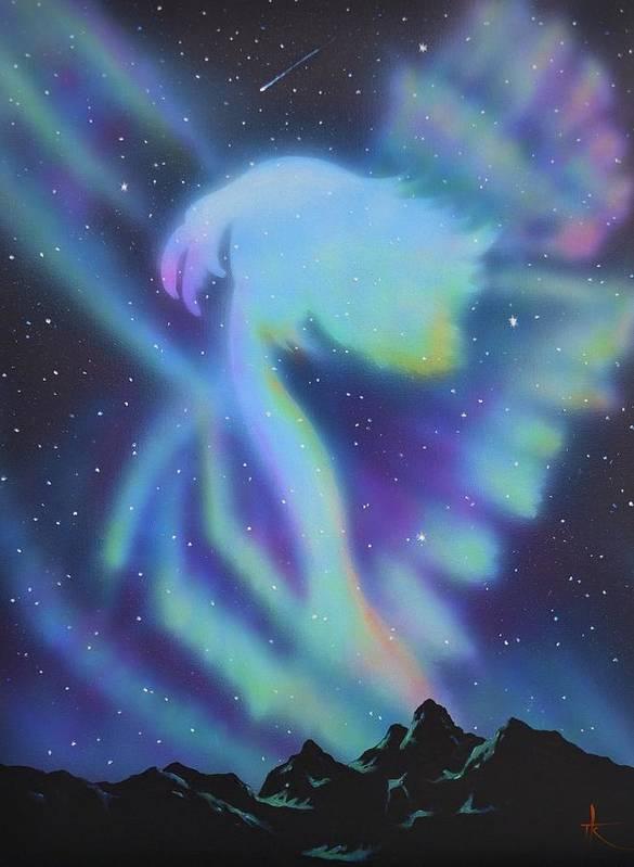 Aurora Borealis Art Print featuring the painting Aurora Borealis 1 by Thomas Kolendra
