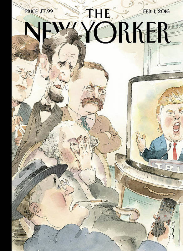 Presidents Art Print featuring the painting Bad Reception by Barry Blitt