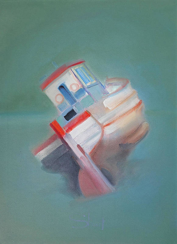 Fishing Boat Art Print featuring the painting Boat Retired Tavira by Charles Stuart