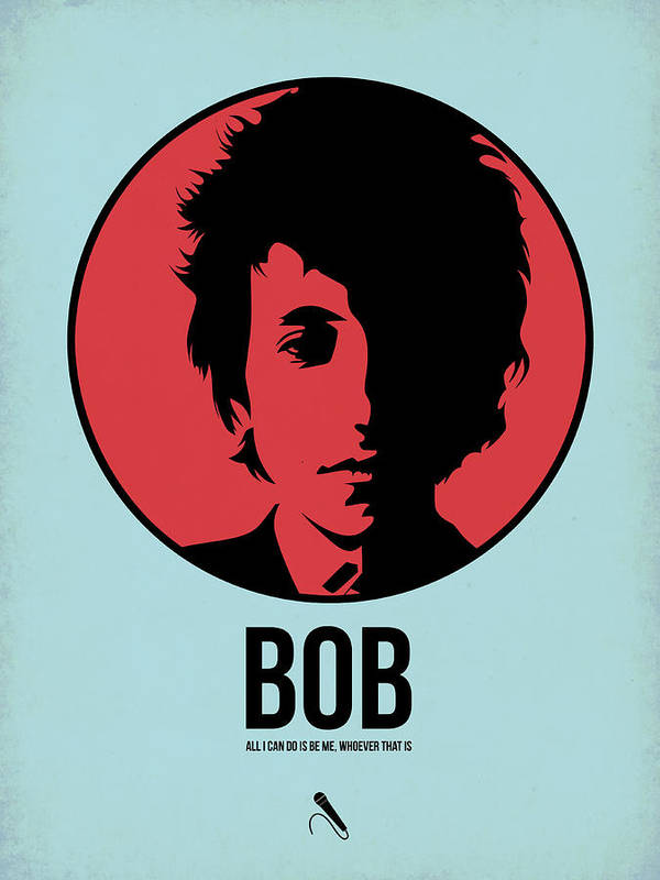 Music Art Print featuring the digital art Bob Poster 2 by Naxart Studio