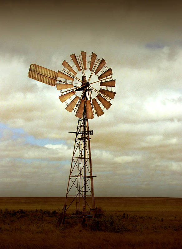 Windmill Art Print featuring the photograph Catch the Wind by Holly Kempe