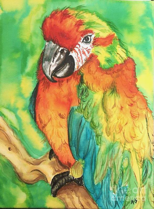 Nature Art Print featuring the painting Chico by Norma Gafford