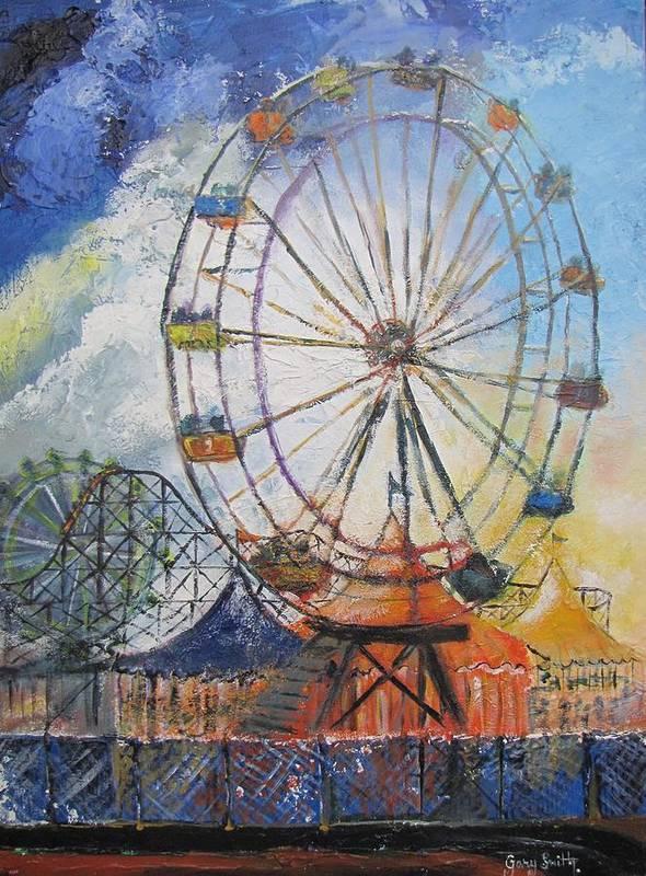 колесо обозрения рисунки акварелью