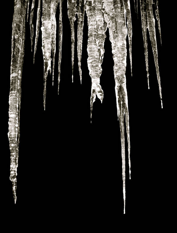Icicle Art Print featuring the photograph Dark Ice by Azthet Photography